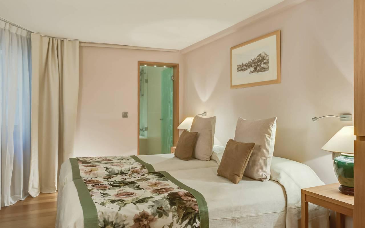 Parisian boutique hotel room