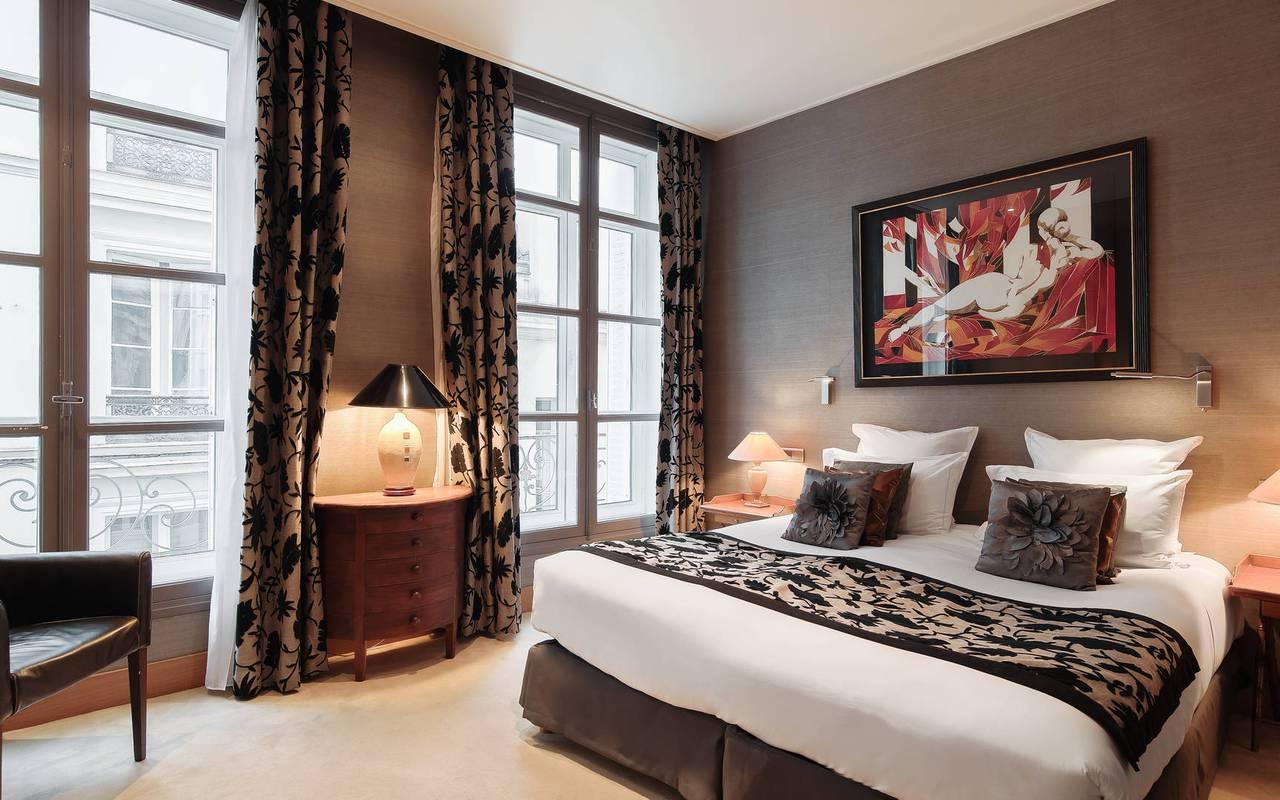 Contemporaine chambre hôtel de charme Saint-Germain-des-Prés